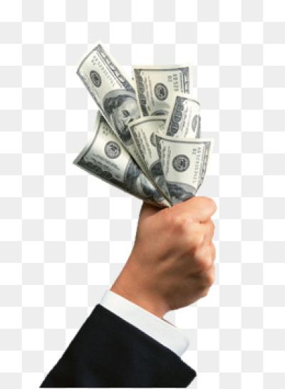 Hand Money Png.