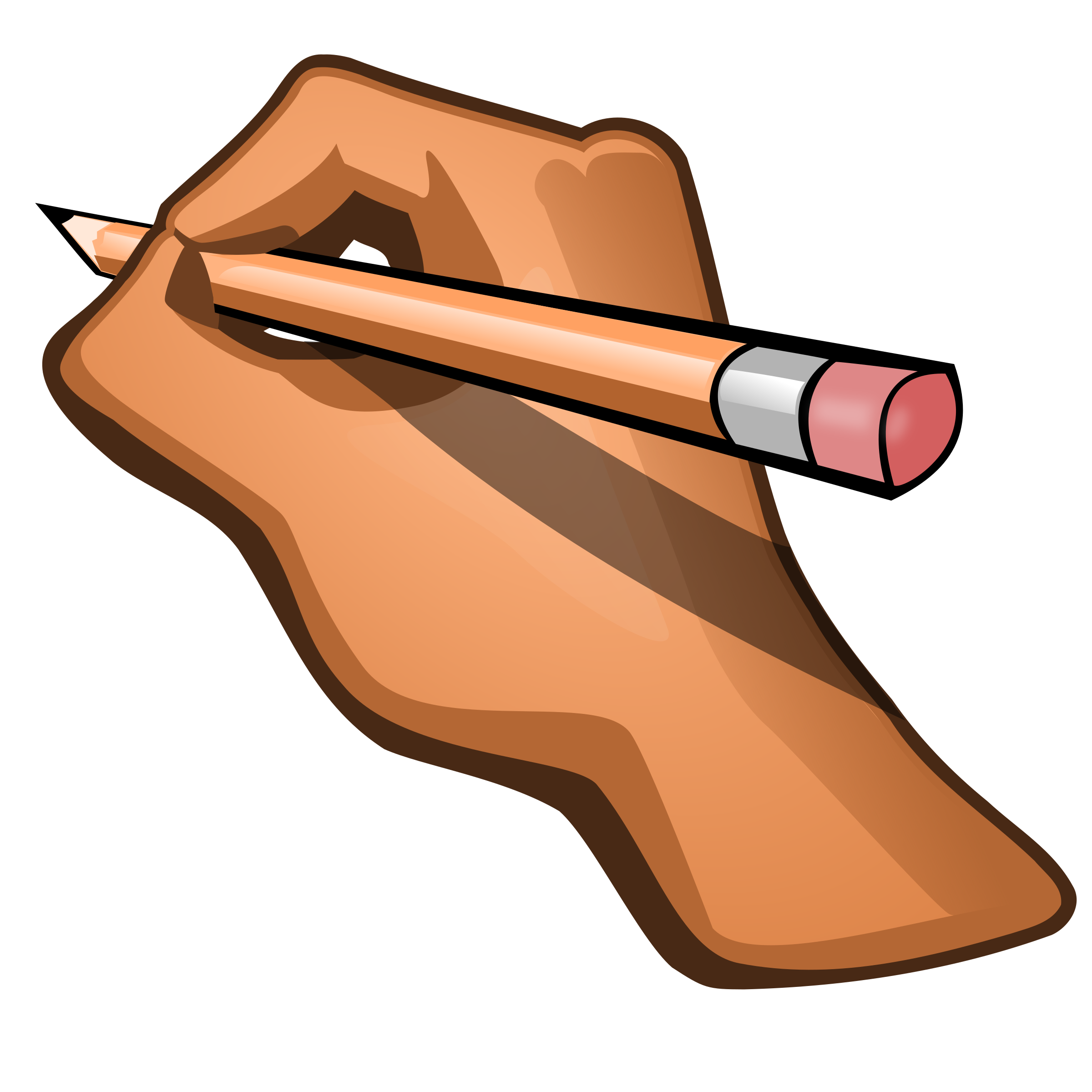 Hand Holding Pencil Clipart.