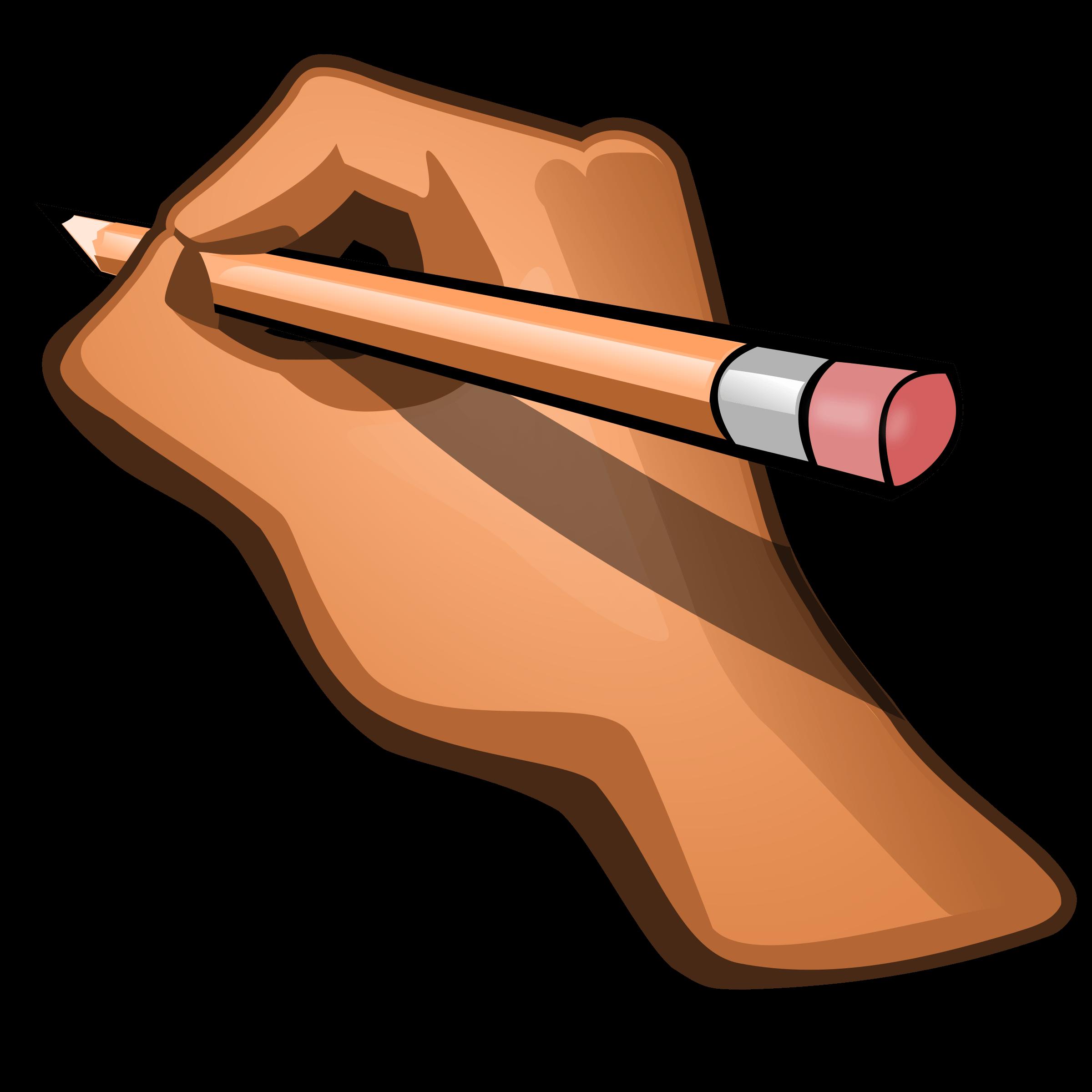 Hand Pencil Cliparts.