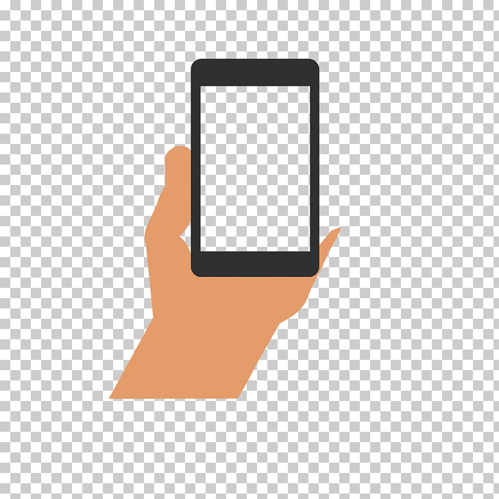 Smartphone Mobile phone Hand, Hand phone PNG clipart.