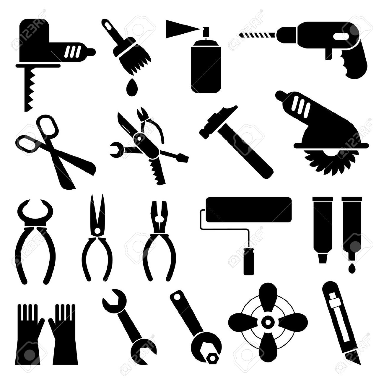 Free clipart work tools.