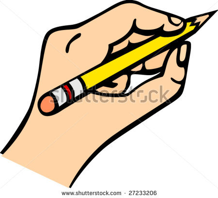 Hand Writing Clip Art Black And White.