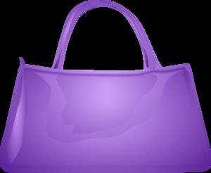 Pink handbag clipart.