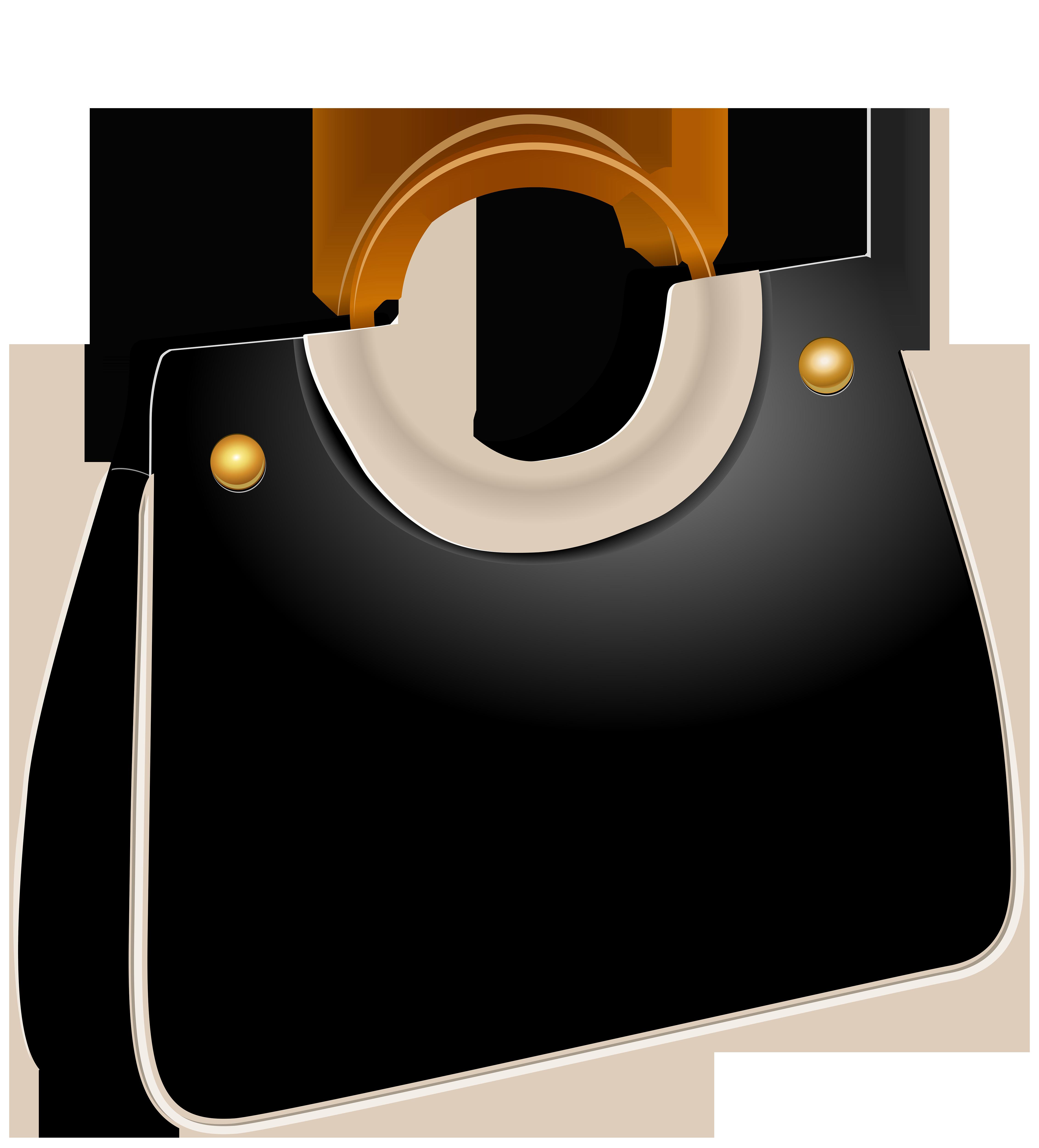 Handbag Black PNG Clip Art.