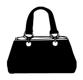 Clip Art Black Handbags Clipart.