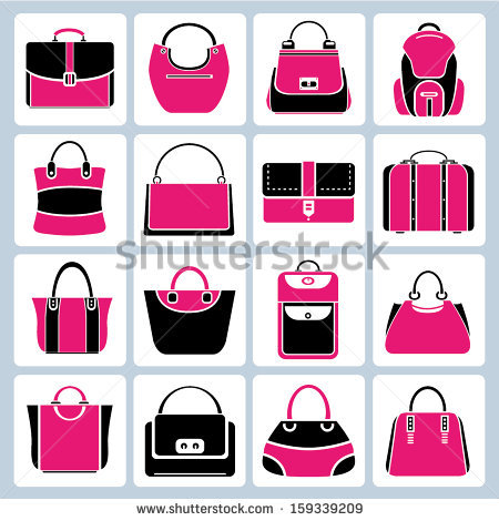 Purse Silhouette Stock Images, Royalty.