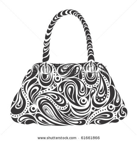 stock vector : woman's handbag.