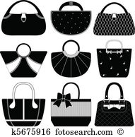 Handbag Clip Art and Illustration. 9,117 handbag clipart vector.