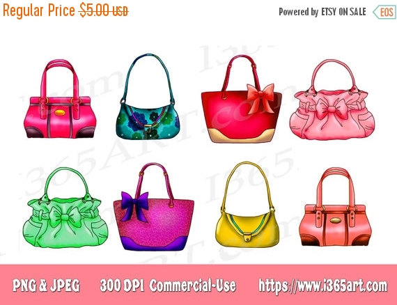 Designer handbags clipart.