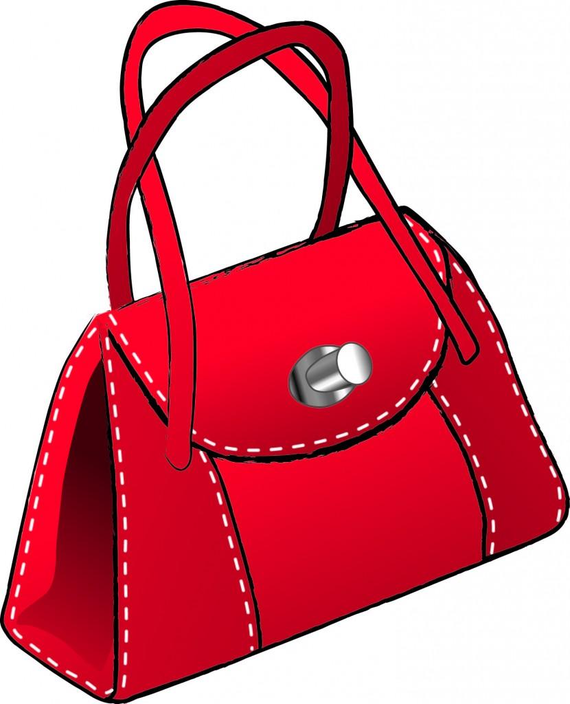 Women Purses And Handbags Clipart.