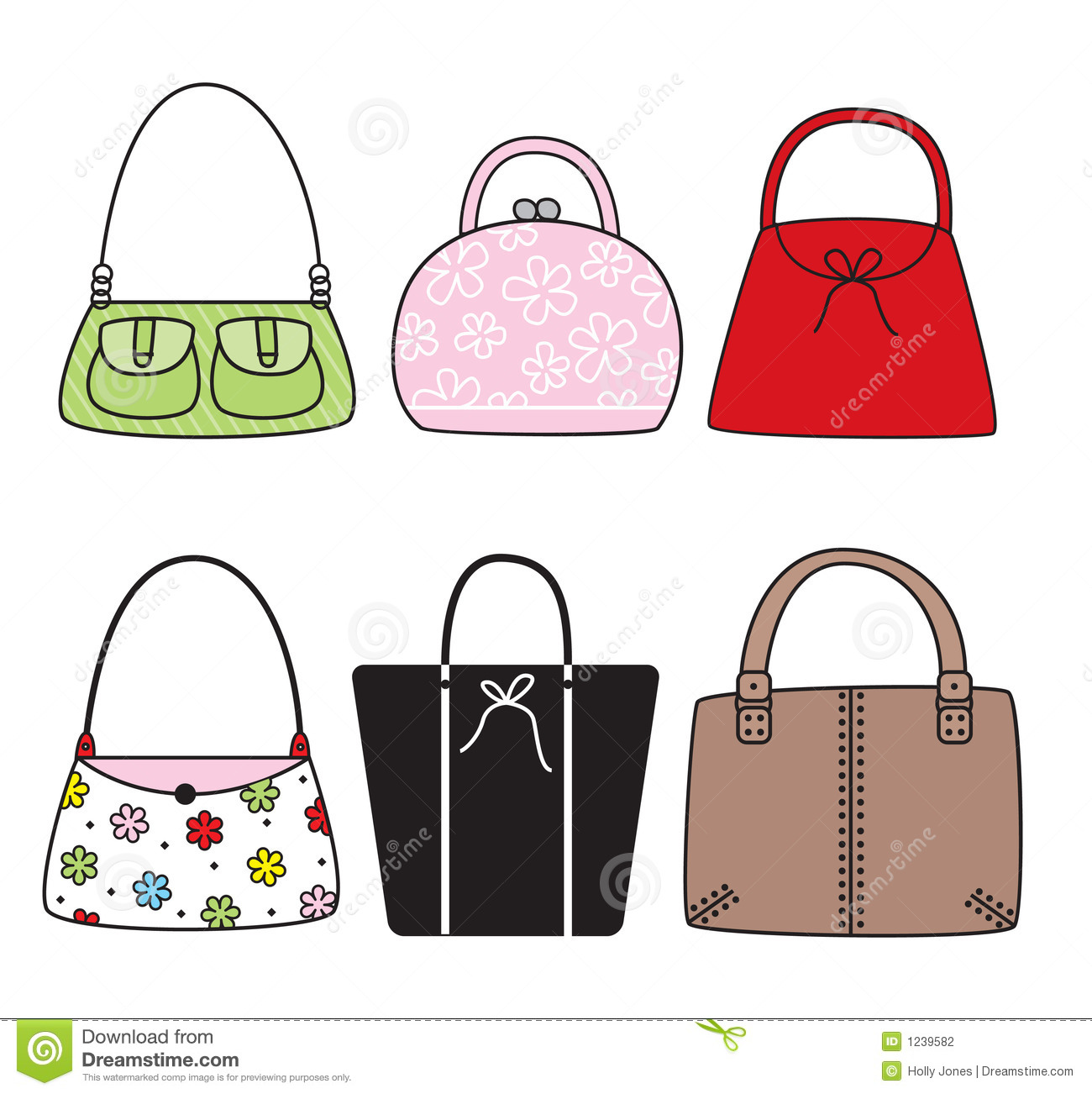Handbags clipart free.