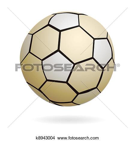 Clipart of Isolated handball soccer ball k8943004.