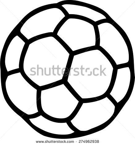 Handball Ball Pictogram Stock Vector 274962938.