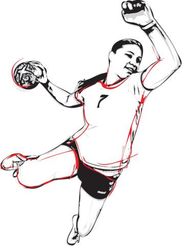 Team handball clipart.