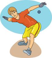 American Handball Clipart.