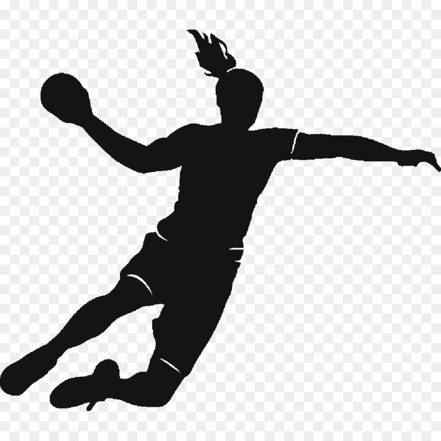 Handball Black png download.