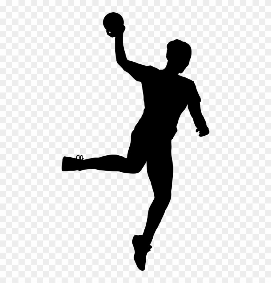 Sport Handball Silhouette Png.