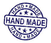 Clipart of Hand Made Stamp Shows Original Handmade Artwork.