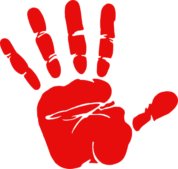 Red Handed Clipart.