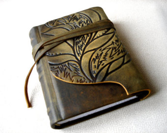 personalized leather journal.