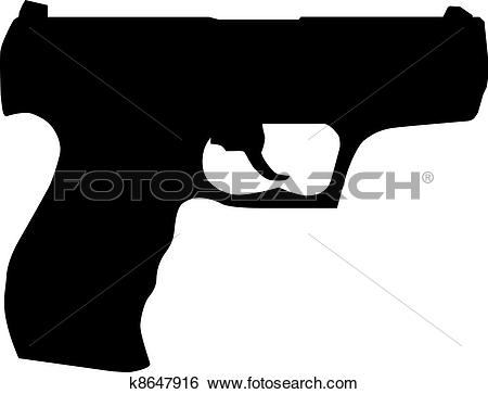 Handgun Clip Art and Illustration. 4,390 handgun clipart vector.