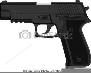 Free Handgun Clipart.