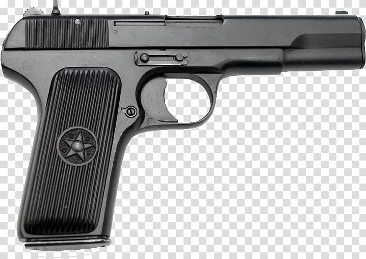 Beretta M9 Handgun Pistol, TT russian Handgun transparent background.