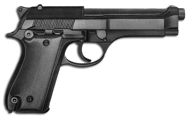 Simple Handgun transparent PNG.