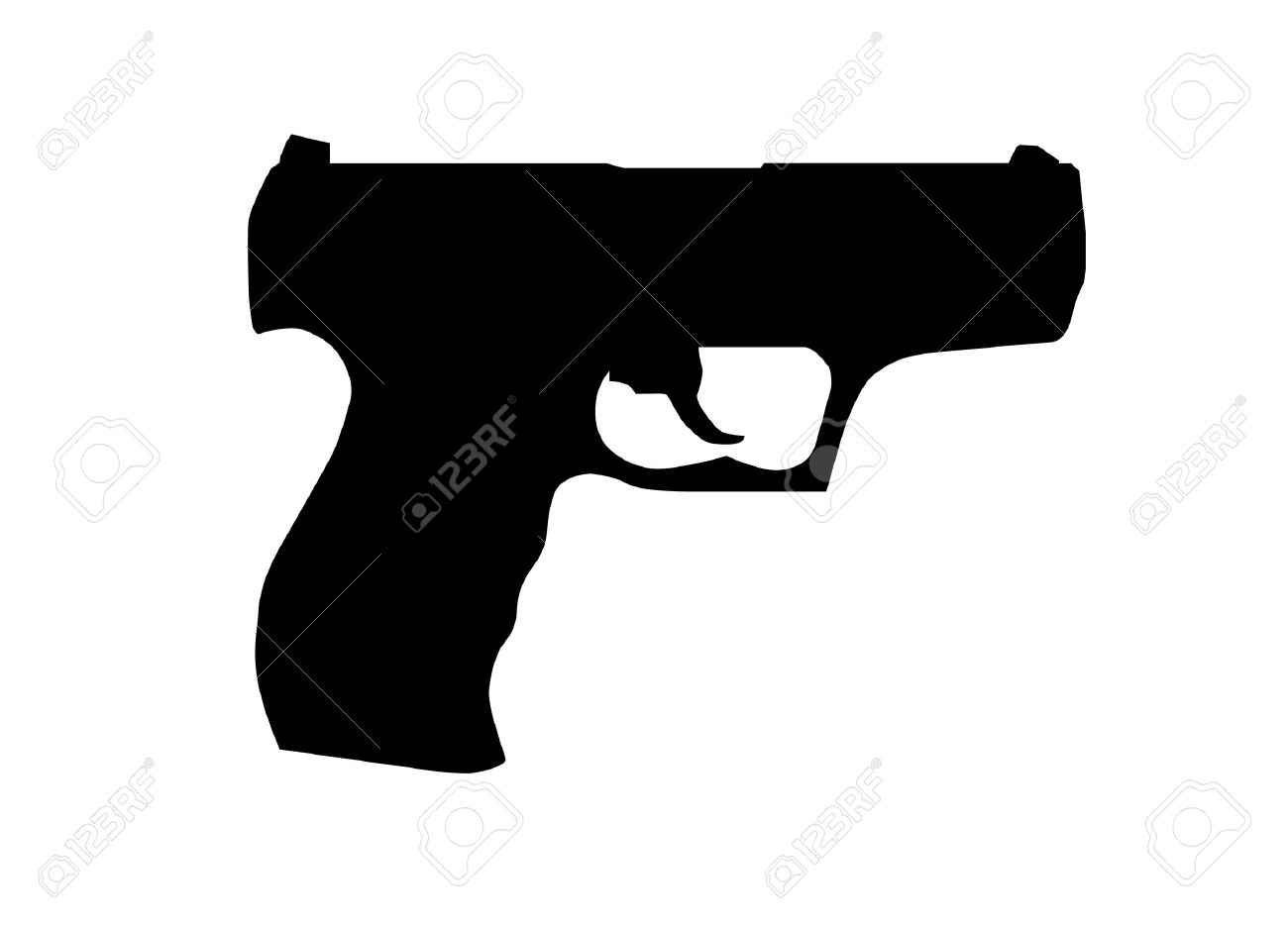 Gun Transparent Background Clipart.