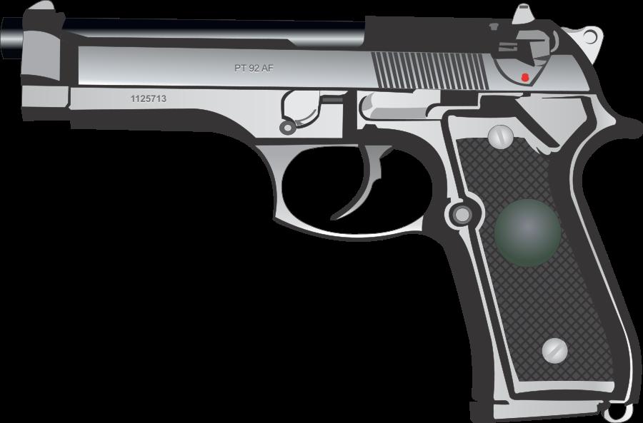 Gun Pistol Vector Clipart.