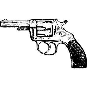 Revolver gun clipart.