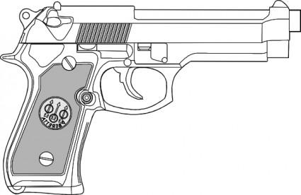 9 Mm Gun clip art.