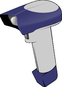 Handheld scanner clipart.