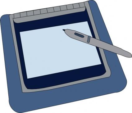 Handheld computer clipart.