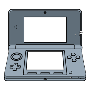 Handheld 3D Game System. clipart, cliparts of Handheld 3D Game.