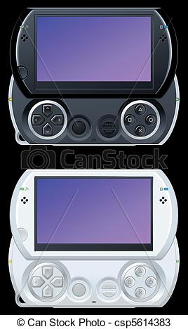 Vectors of portable video game console csp5614383.