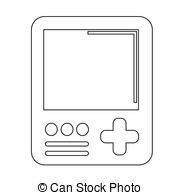 Handheld game console Stock Illustrations. 952 Handheld game.