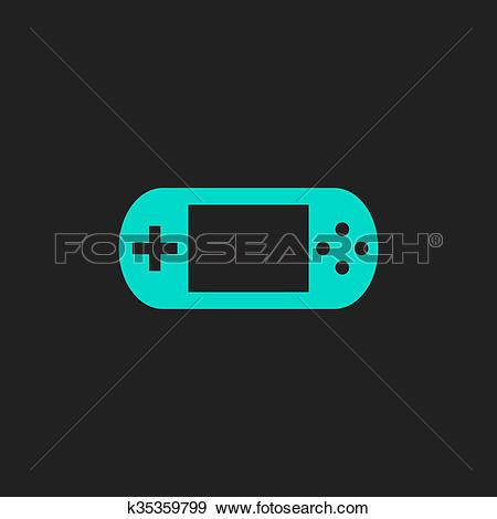 Clip Art of Handheld game console k35359799.