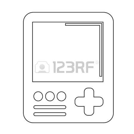 Handheld Console Stock Vector Illustration And Royalty Free.