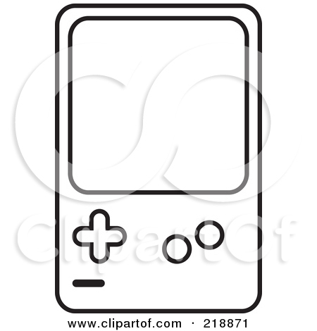 Computer gaming clipart black and white.