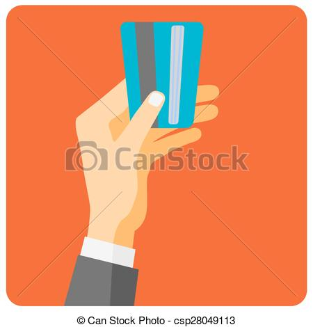Vector Clip Art of Flat design style illustration. Hand hold.