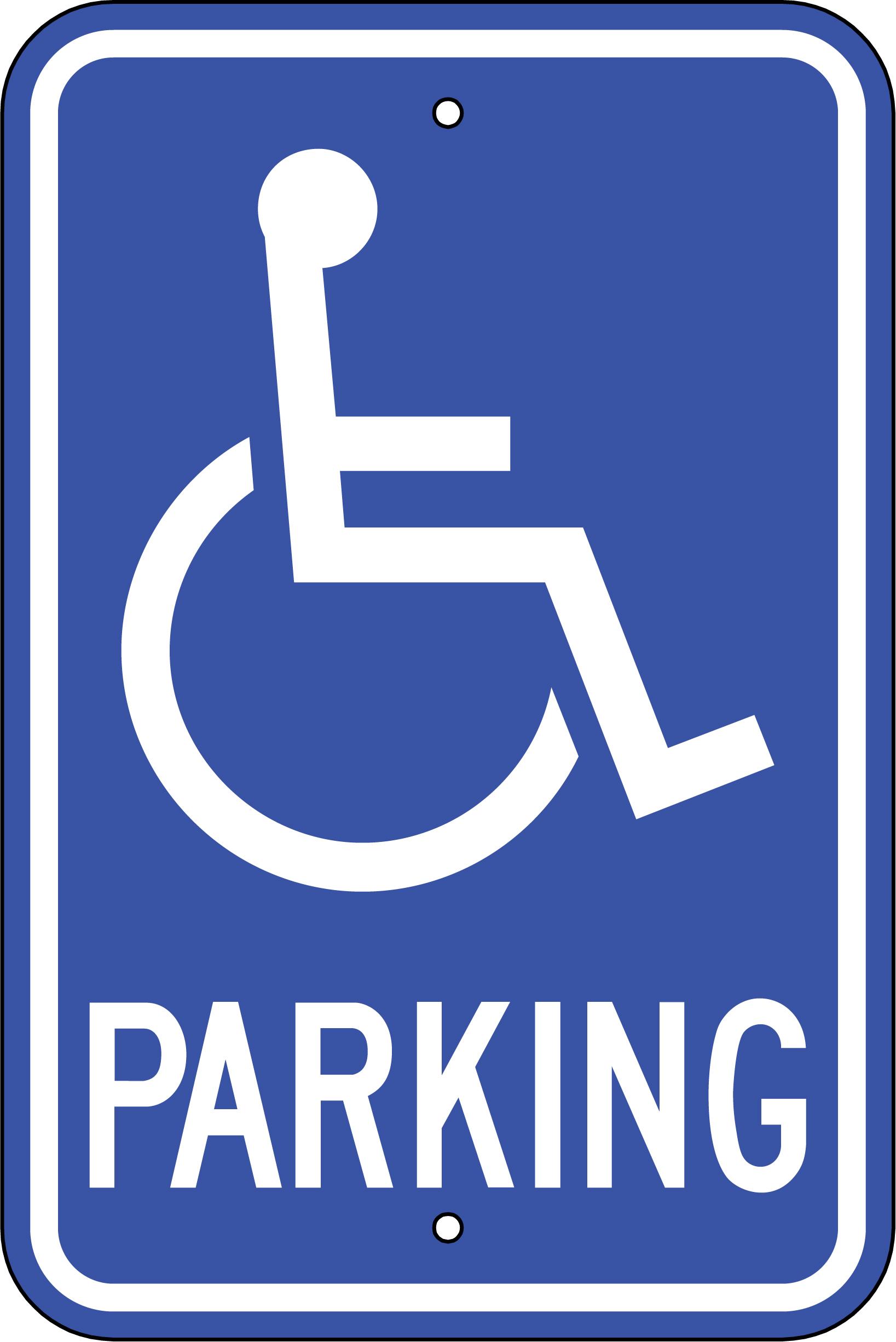 Handicap parking clipart.