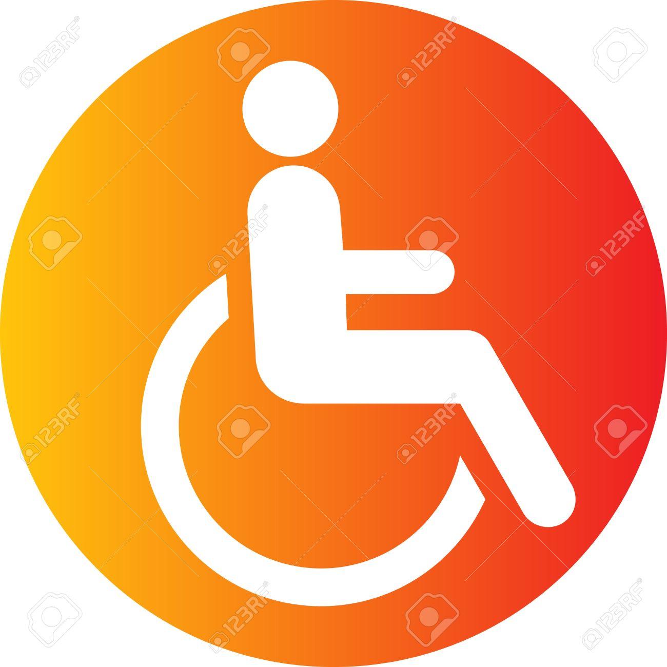 Free clip art handicap symbol.