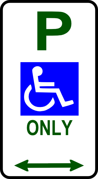 Disabled Parking Sign clip art (109389) Free SVG Download.