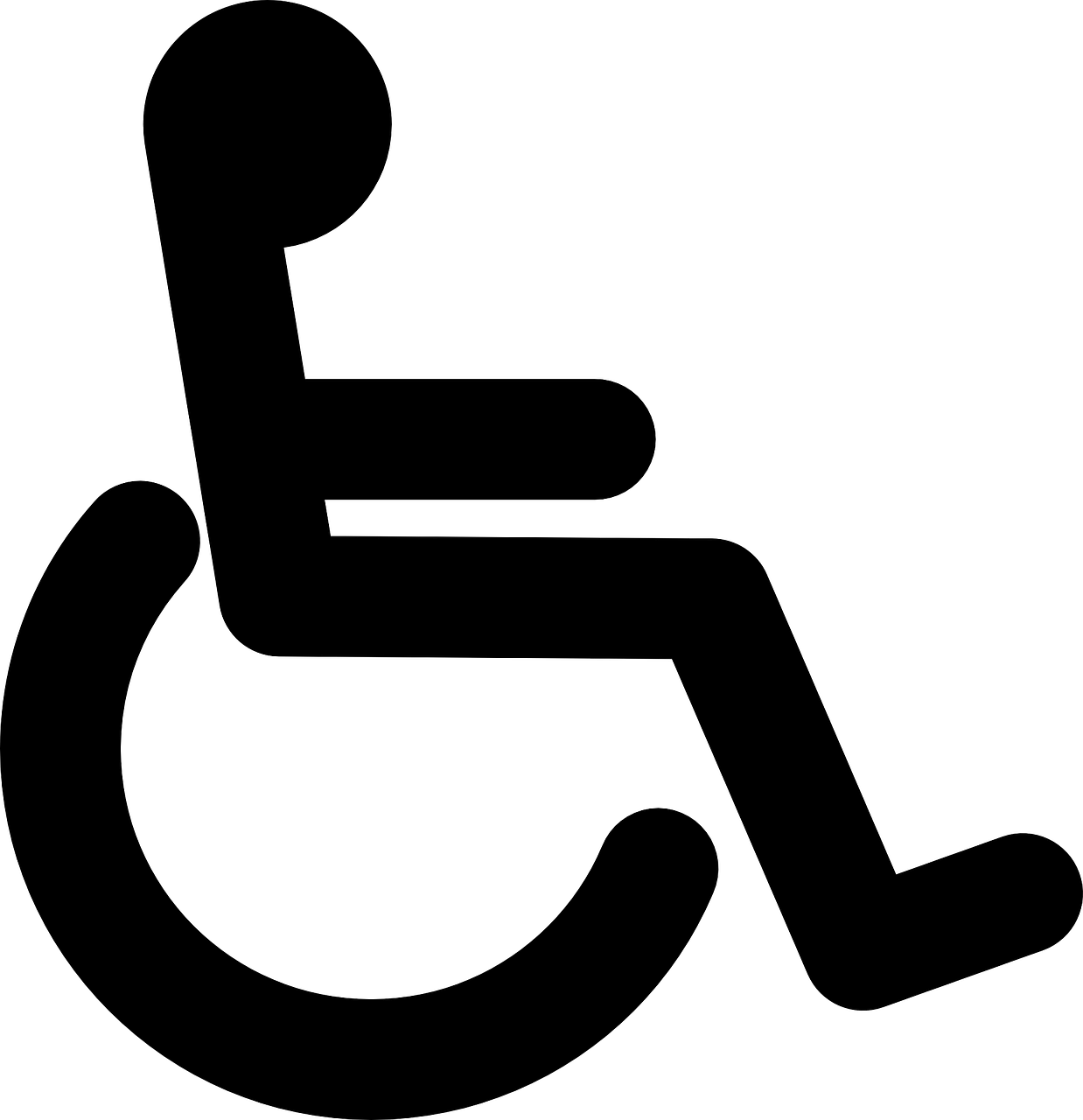 Wheelchair Black Handicap PNG.