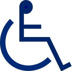 wheelchair symbol.