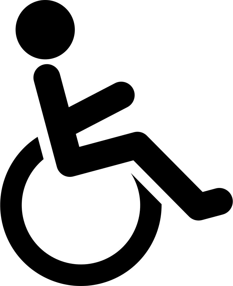Disabled handicap symbol PNG.