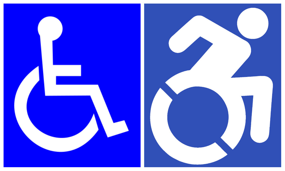 New handicapped logo aimed to destigmatize disabilities.