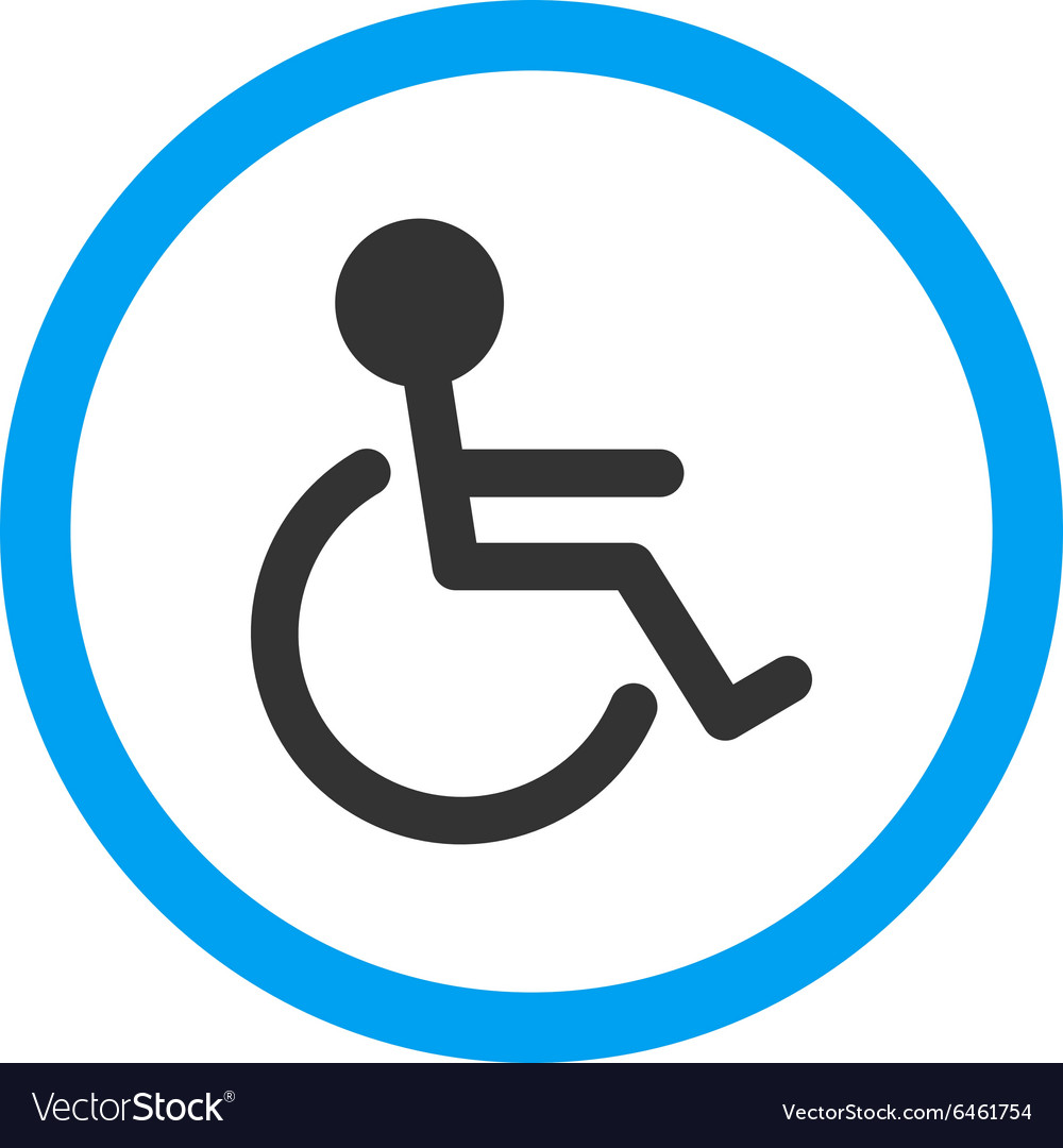 Handicapped Rounded Icon.