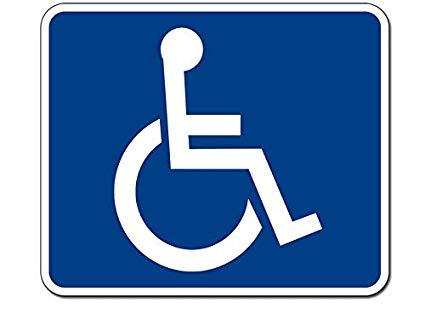 Amazon.com: JR Studio 4x5 inch Blue & White Wheelchair.